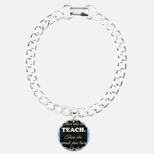 TEACHERS Charm Bracelet, One Charm