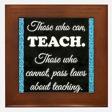 TEACHERS Framed Tile
