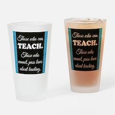 TEACHERS Drinking Glass