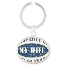 Funny 10th Anniversary Oval Keychain