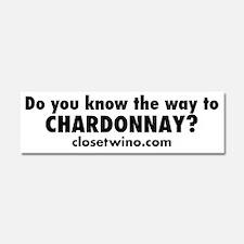 Chardonnay Bumper Sticker Car Magnet 10 x 3