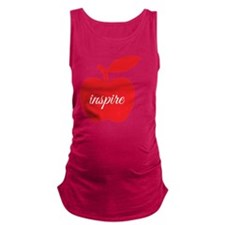 Teachers Inspire Maternity Tank Top