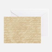 Cream Script Greeting Card