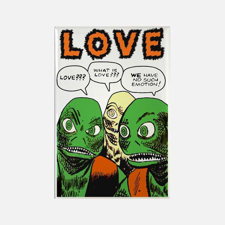 Love scifi vintage Rectangle Magnet