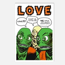 Love scifi vintage Postcards (Package of 8)