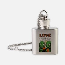 Love scifi vintage Flask Necklace