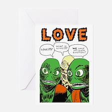 Love scifi vintage Greeting Card