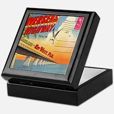 Vintage Key West Florida Postcard Keepsake Box