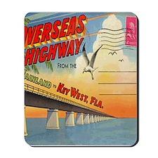 Vintage Key West Florida Postcard Mousepad