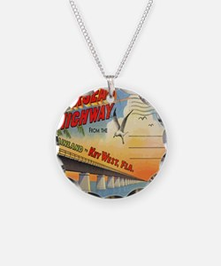 Vintage Key West Florida Pos Necklace