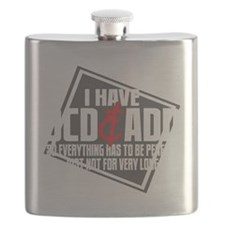 I Have OCD and ADD blk Flask