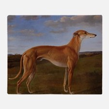 Vintage Greyhound Painting Throw Blanket