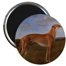 Vintage Greyhound Painting Magnet