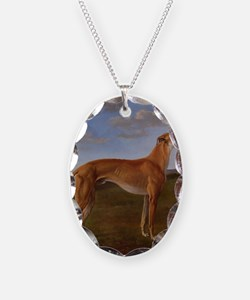 Vintage Greyhound Painting Necklace