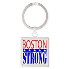 Boston Strong Tee Shirt Square Keychain