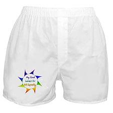 My God Loves Us All Equally Boxer Shorts