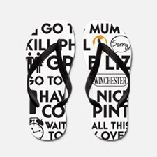 SHAUN OF THE DEAD THE PLAN BLACK Flip Flops
