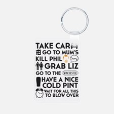 SHAUN OF THE DEAD THE PLAN Keychains