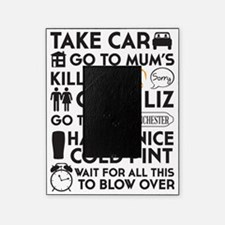 SHAUN OF THE DEAD THE PLAN BLACK Picture Frame