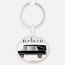 Mortician in progress Oval Keychain