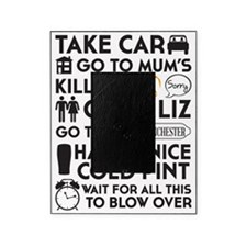 SHAUN OF THE DEAD THE PLAN BLACK 2 Picture Frame