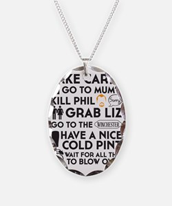 SHAUN OF THE DEAD THE PLAN BLA Necklace