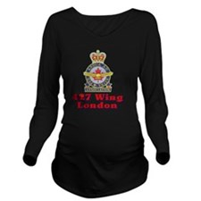 Emblem Long Sleeve Maternity T-Shirt