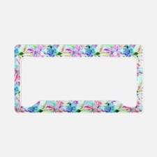 Colorful Orchids License Plate Holder