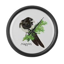 Curious Watercolor Magpie Bird Nature Art Large Wa