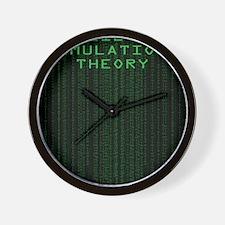 Simulation Theory Wall Clock