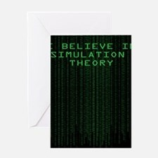 Simulation Theory Greeting Card