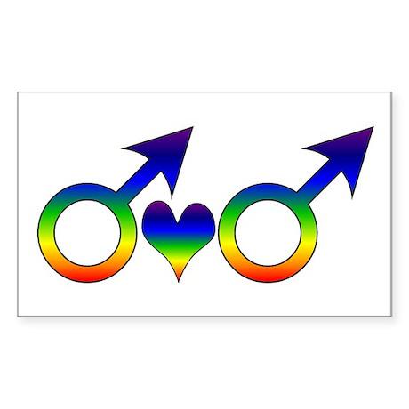 Gay Men Partners Rectangle Sticker