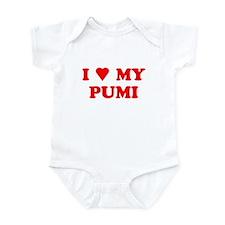 PUMI SHIRT PUMI T-SHIRT I LOV Infant Bodysuit
