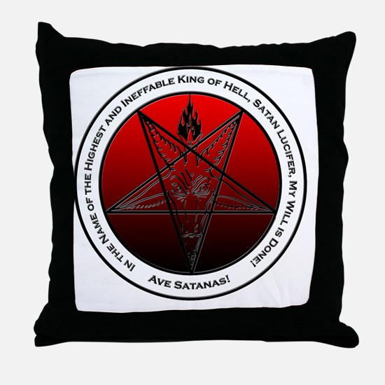 Bloodfire Ineffable King of Hell Baph Throw Pillow