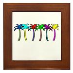 Palm Trees Framed Tile