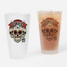 Cheststache Poker Face T-Shirt Drinking Glass