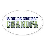 Worlds Coolest Grandpa Oval Sticker