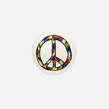 Rainboe Peace Sign Jet Baker Mini Button