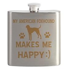 American Foxhound dog breed designs Flask