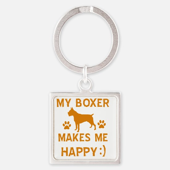 Boxer dog breed designs Square Keychain