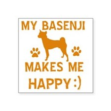 "Basenji dog designs Square Sticker 3"" x 3"""