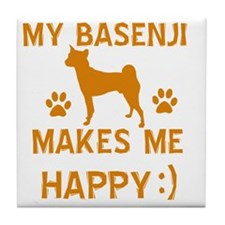 Basenji dog designs Tile Coaster