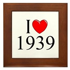 """I Love 1939"" Framed Tile"