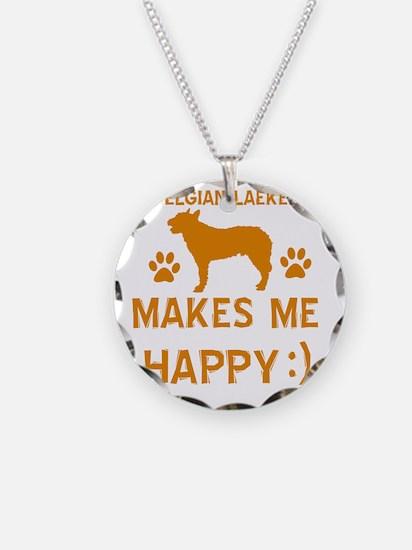 Belgian Laekenois dog Necklace Circle Charm