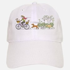 Bike Riding Girl and Dogs Cap