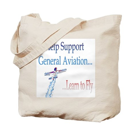 Support General Aviation Tote Bag