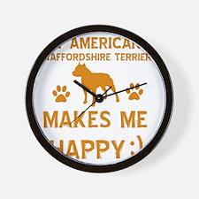 American Staffordshire Terrier designs Wall Clock