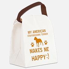 American Staffordshire Terrier de Canvas Lunch Bag
