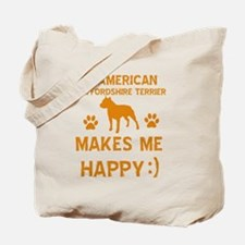 American Staffordshire Terrier designs Tote Bag