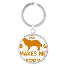 Bernese Mountain Dog Round Keychain
